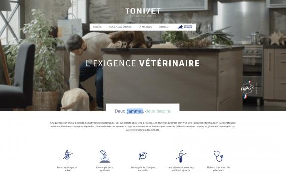 Capture d'écran site Tonivet