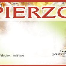 Etykiety - Pierzga