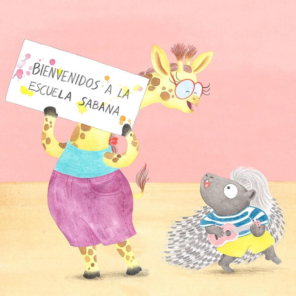 Julia y Paco, diseño de personajes, proceso de ilustración, cuentos sobre animales, álbum infantil ilustrado, colección de libros infantiles,