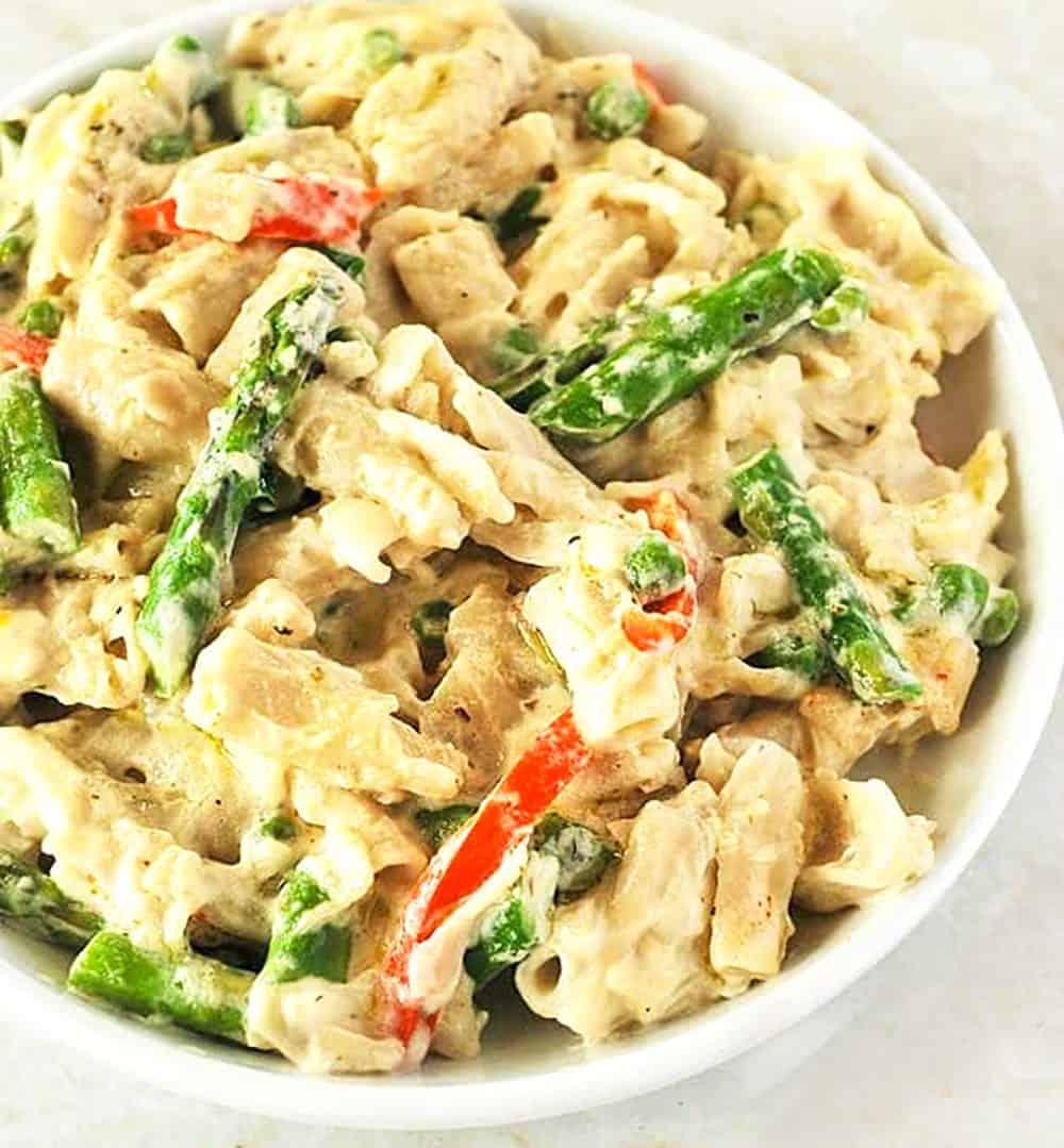 Creamy Vegan Alfredo Vegetables