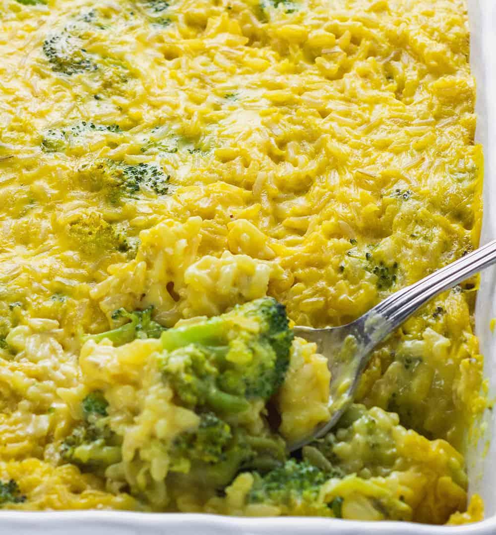 Creamy Vegan Broccoli Rice Casserole