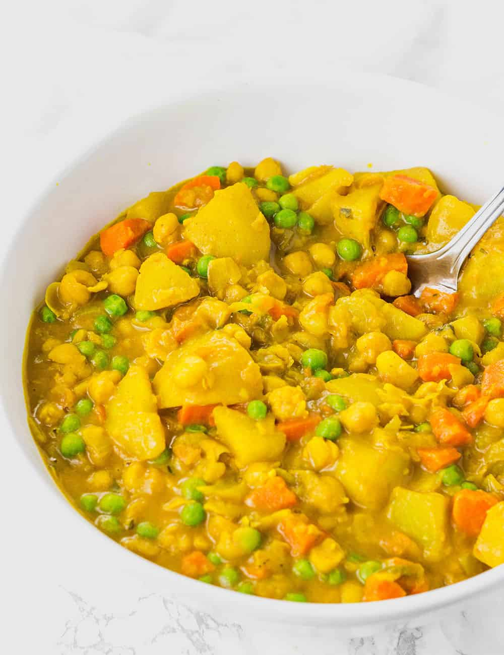 Jamaican Spicy Potato Curry (Vegan) in a bowl