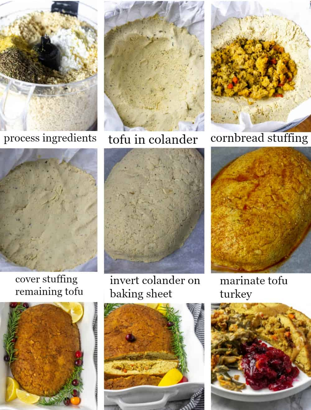 Step By Step Tofu Turkey