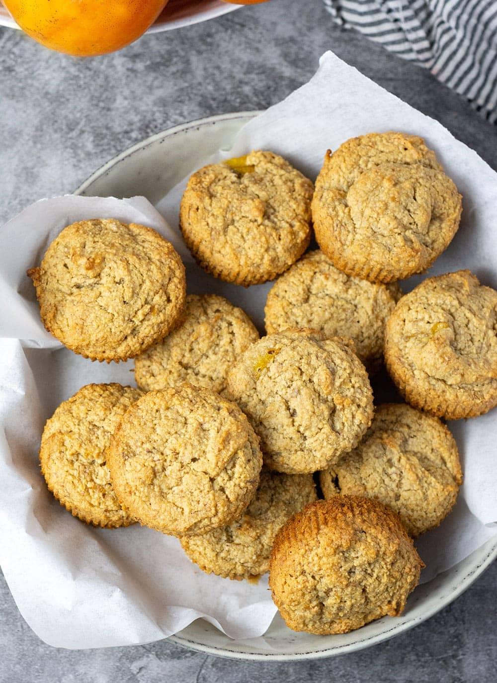 Vegan Persimmon Banana Muffins