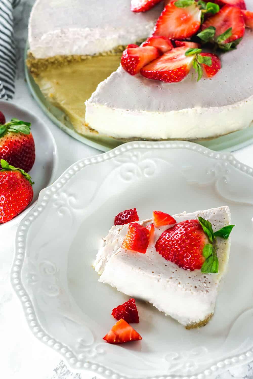 No Bake Strawberry Ice Cream Tart
