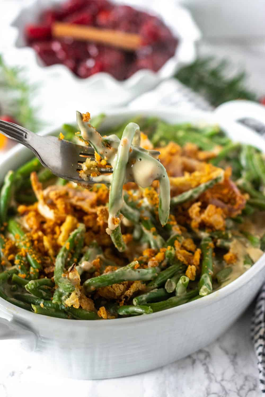 Best Vegan Green Bean Casserole