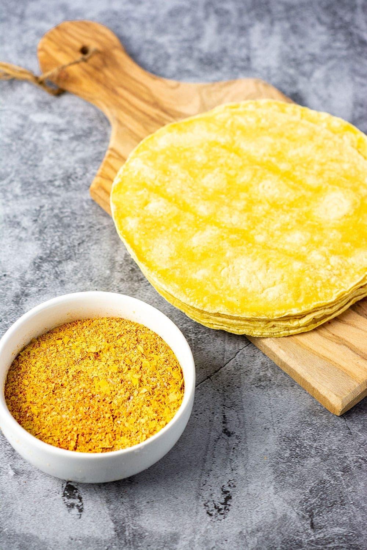 seasoning blend for vegan nacho cheese doritos and tortillas