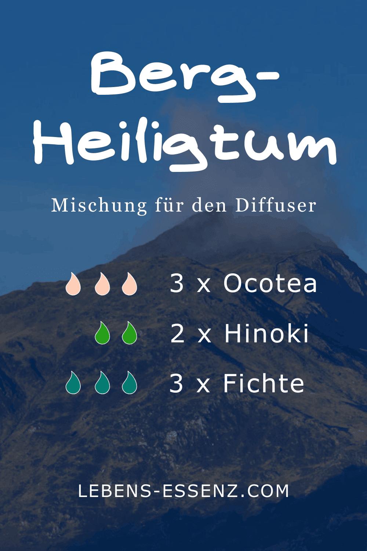 Bergheiligtum - Mischung für den Diffuser - mit den ätherischen Ölen Ocotea, Hinoki und Fichte - lebens-essenz.com