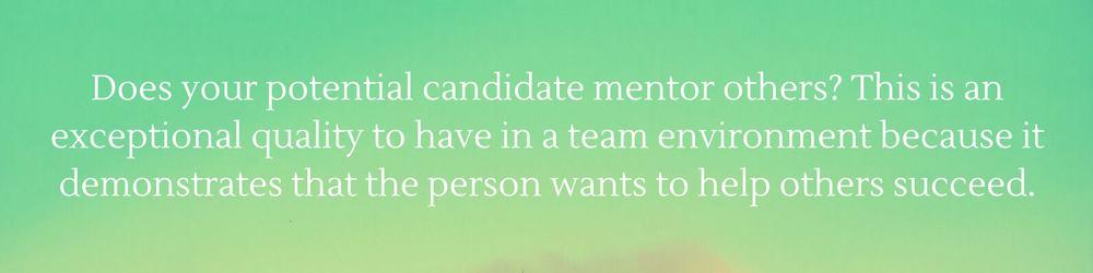 hiring a team player