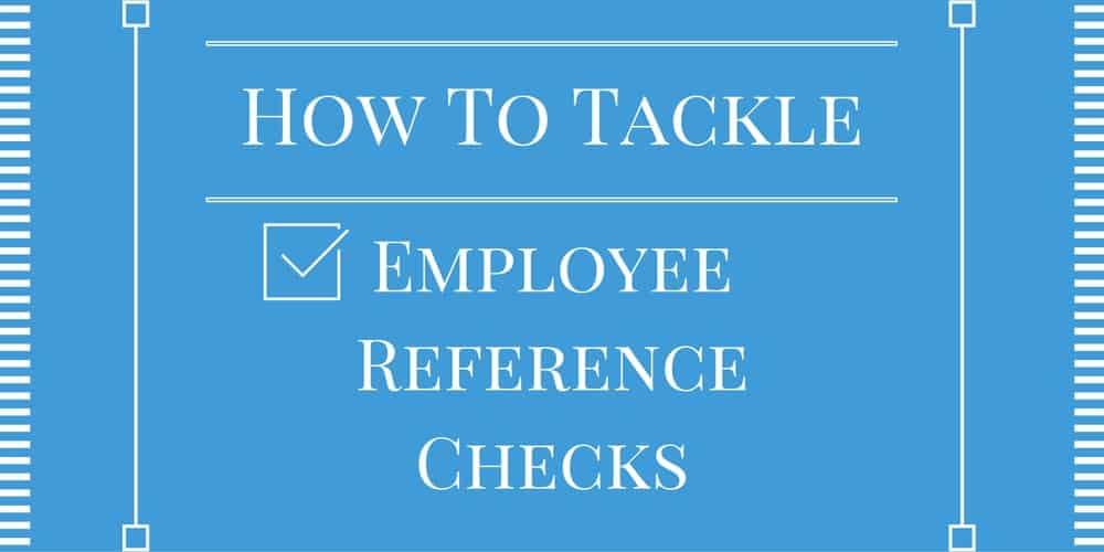employee reference checks