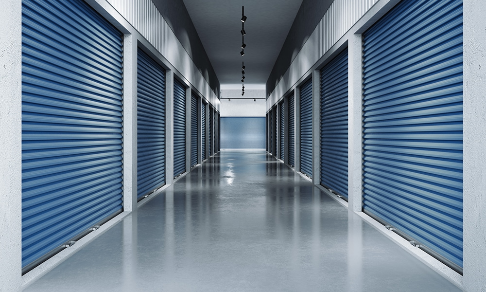 Move-IT Technology storage rooms with blue gates