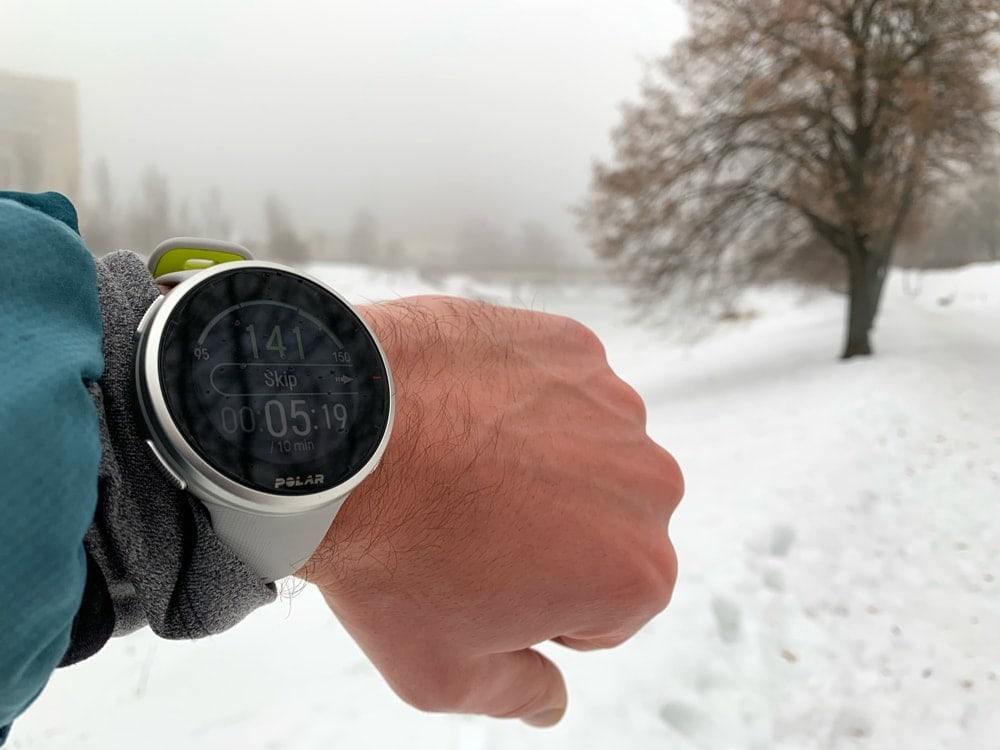 Зимняя тренировка по снегу