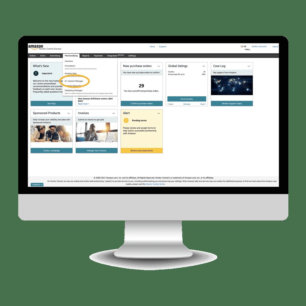 How to build Amazon Premium A+ - step 1