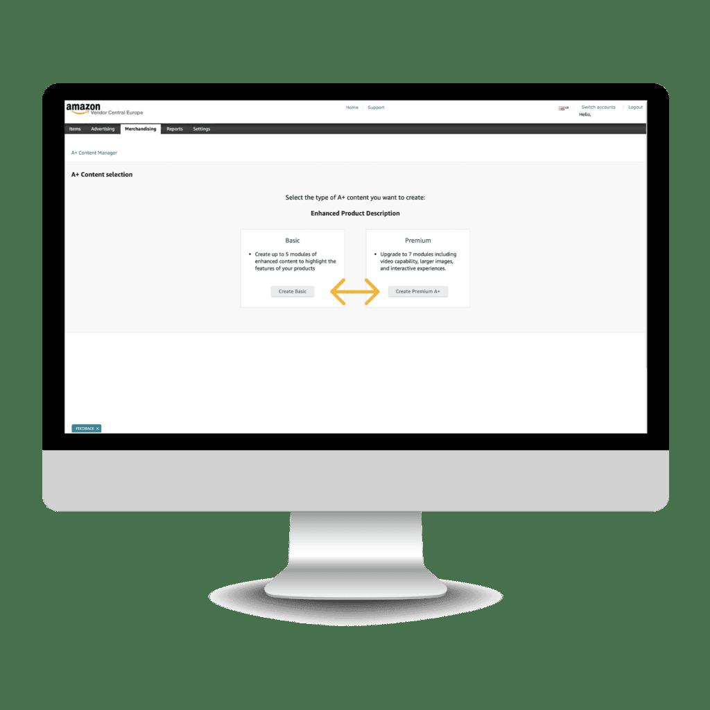 How to build Amazon Premium A+ - step 3