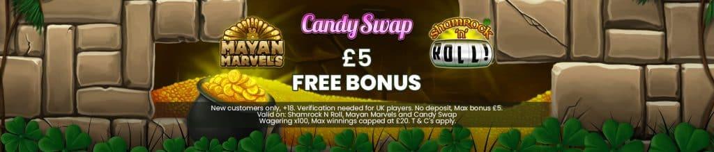 £5 Free No deposit Casino