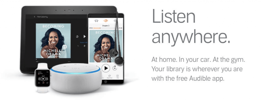 listen anywhere with an audible membership
