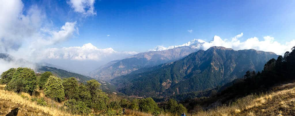 Views of the himalayas in Nepal