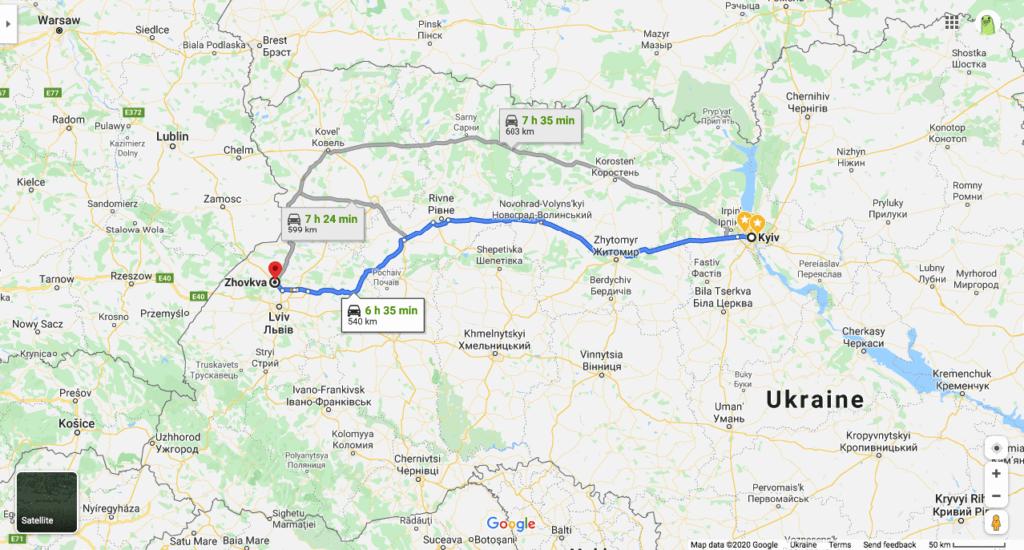 Дорога Киев-Жолква