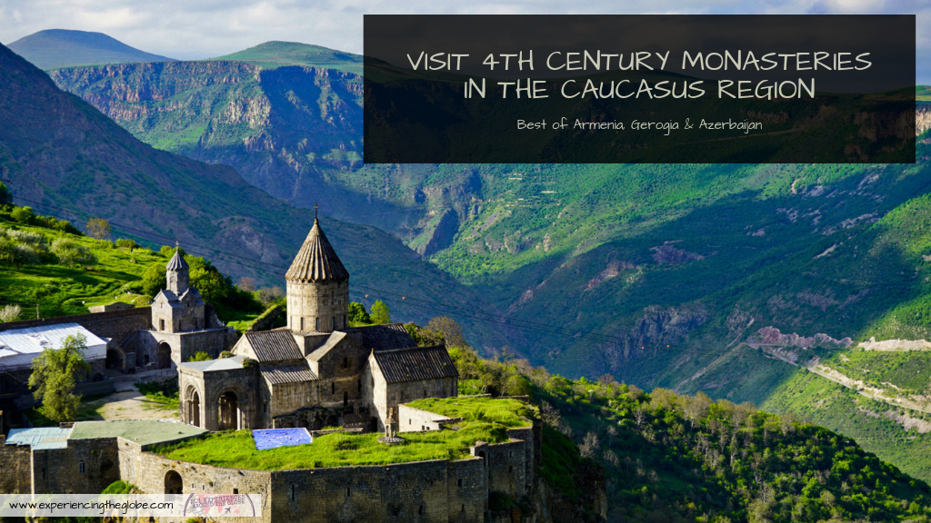 The Caucasus monasteries are an amazing sight. You'll find them all around Armenia, Georgia and even Azerbaijan, in the most breathtaking locations. The whole region is simply stunning, well worth a spot in everyone's bucket list – Experiencing the Globe #CaucasusMonasteries #Armenia #Georgia #Azerbaijan #CaucasusRegion #TravelExperiences #BeautifulDestinations #Wanderlust #Backpacking #SoloFemaleTravel #MeetTheLocals #IndependentTravel #BucketList