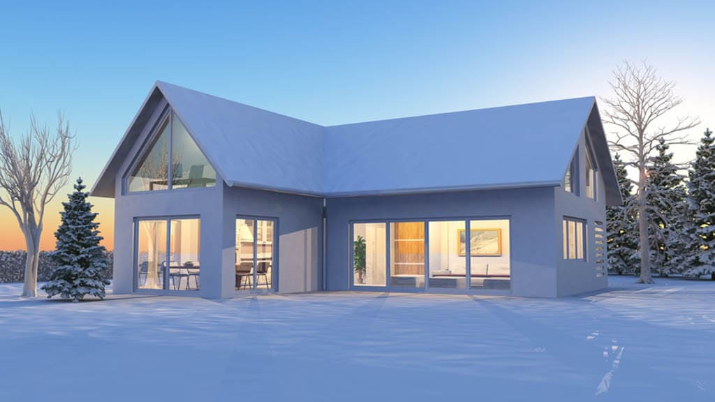 Bautrocknung Winter - Trocknungsgeräte - Haus