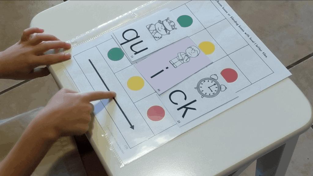 phonemic awareness strategies - Elkonon boxes for segmenting and blending