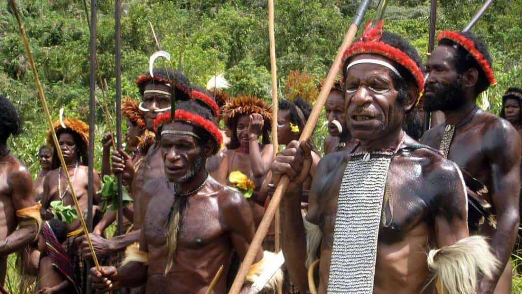 Die Dani in Westpapua