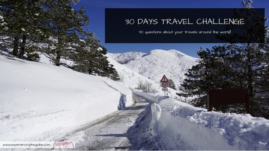 Do you want inspiration to see the world? Or to revisit your adventures? Join the 30 days travel challenge! You'll get 30+ questions to feed your wanderlust #TravelChallenge #BucketList #MustSeeDestinations #BeautifulDestinations #RTW