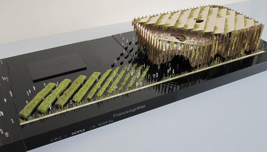 maquette du pavillon français de l'exposition universelle de Milan par XTU architects