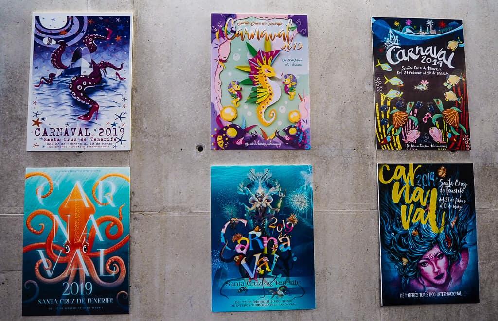 Posters at Casa del Carnaval Tenerife