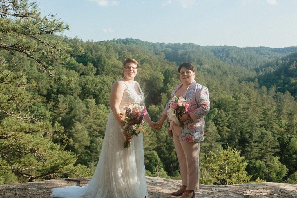 queer wedding ceremony red river gorge