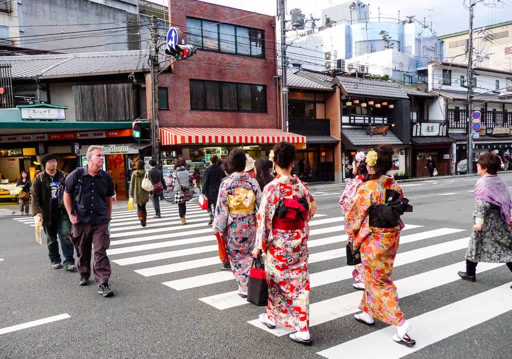 Geisha's in downtown Kyoto
