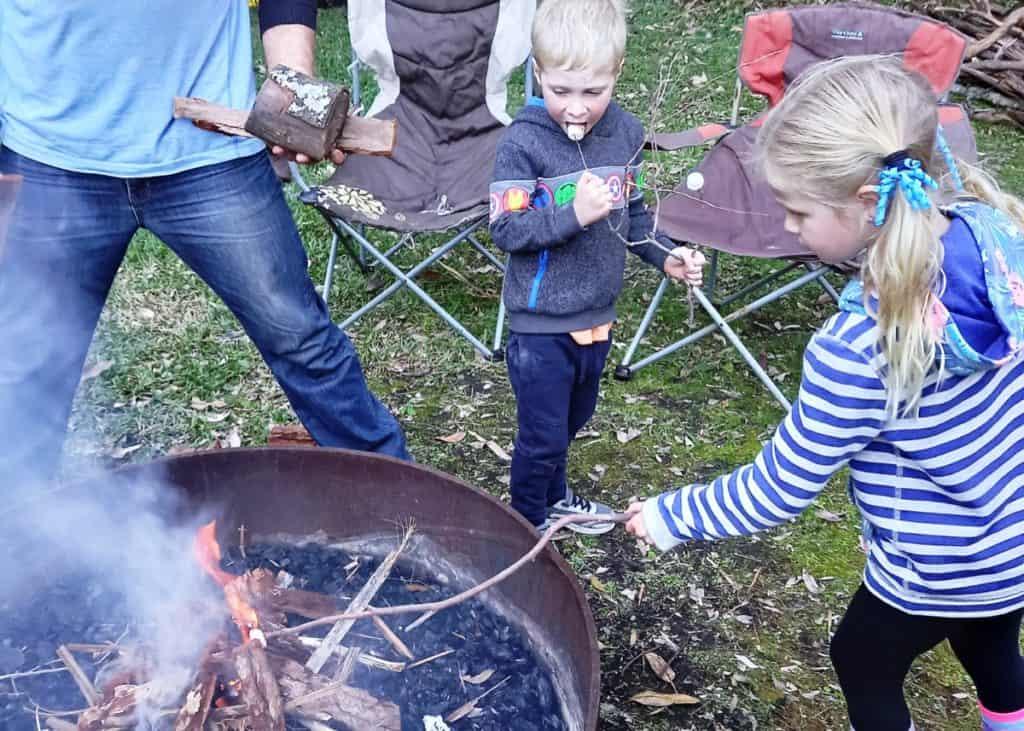 Winter Camping Kids