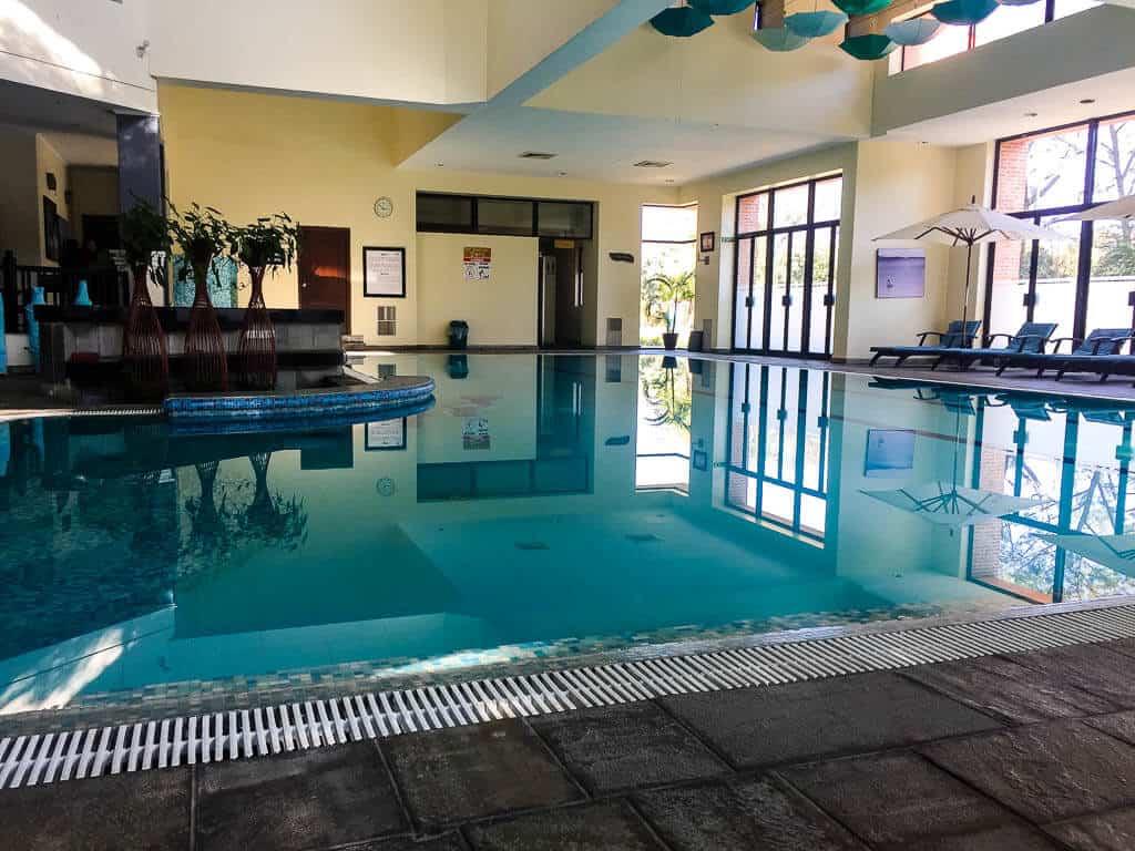 The swimming pool at Gokarna Forest Resort Kathmandu