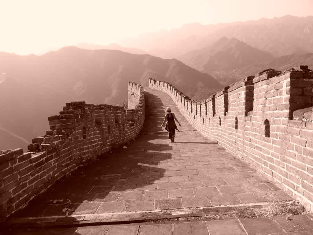Alone on The Great Wall of China