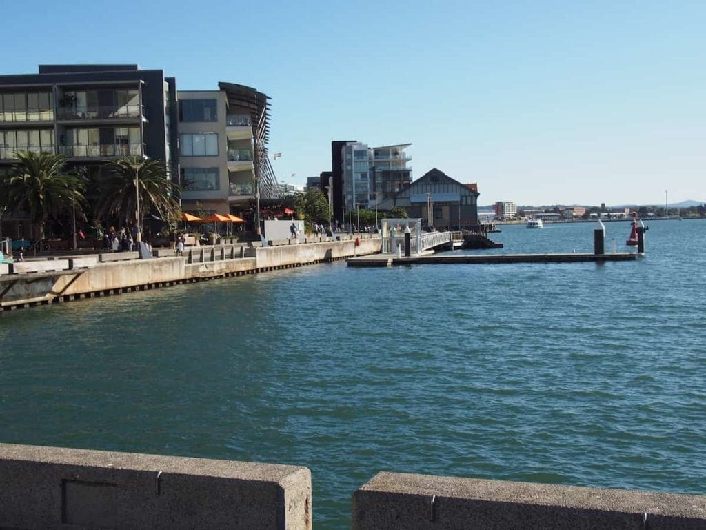 Newcastle foreshore harbour walk