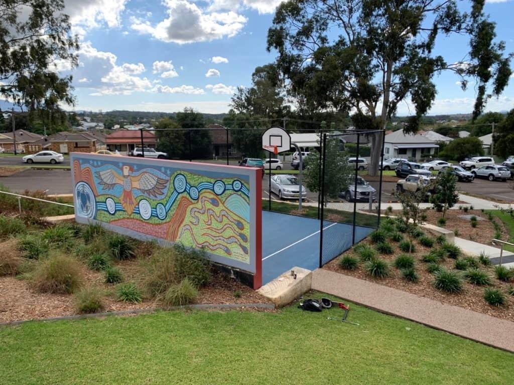 Bridges Hill Playground Cessnock Basketball Court