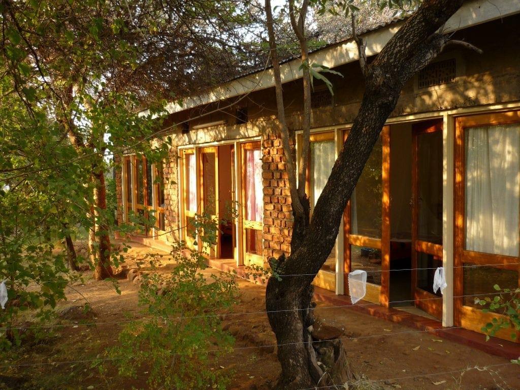 brick lodge with spacious windows