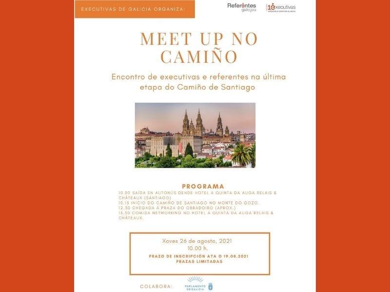 Meet-up no Camiño, encontro presencial en Santiago de Compostela 26 de agosto