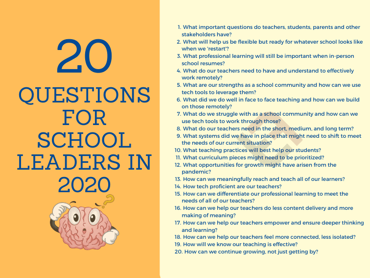 What Are Our Priorities? 20 Questions To Guide School Leaders During COVID-19 Pandemic