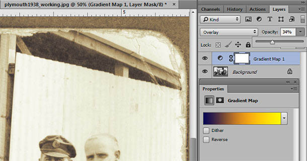 Toning a black and white photo