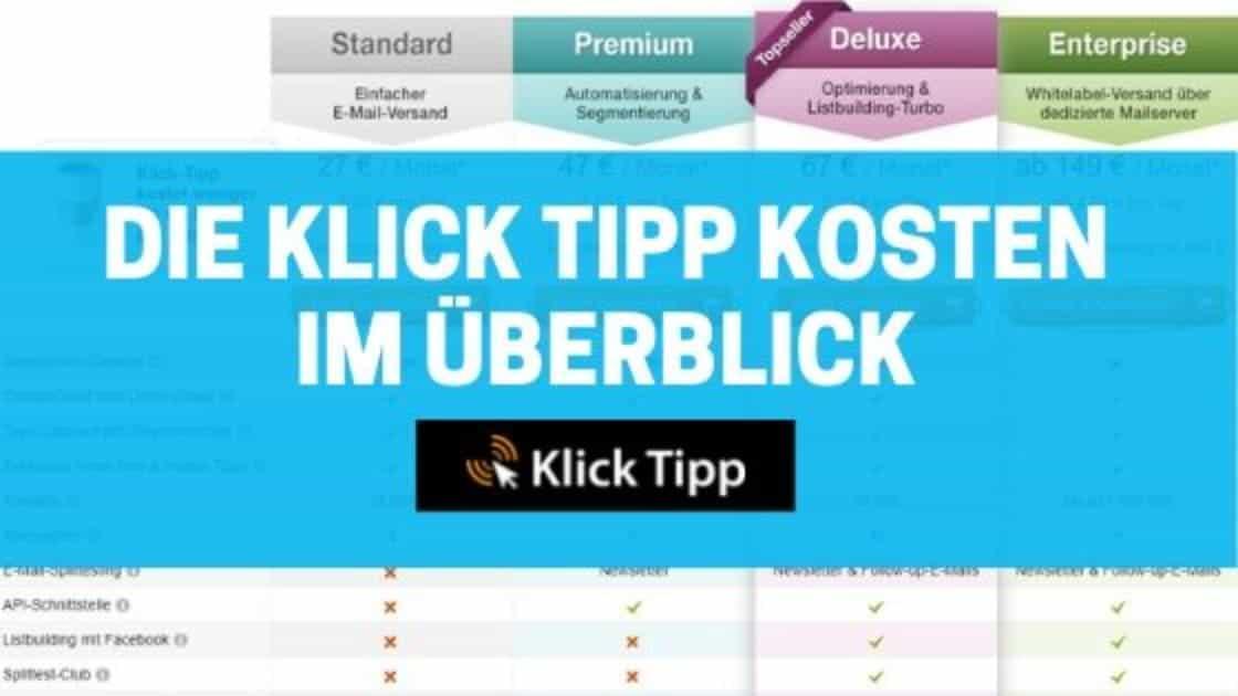 Die Klick Tipp Kosten blog banner