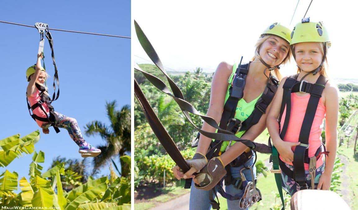 Maui ziplining