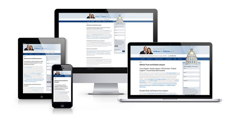 Aitkens Law Firm responsive web design