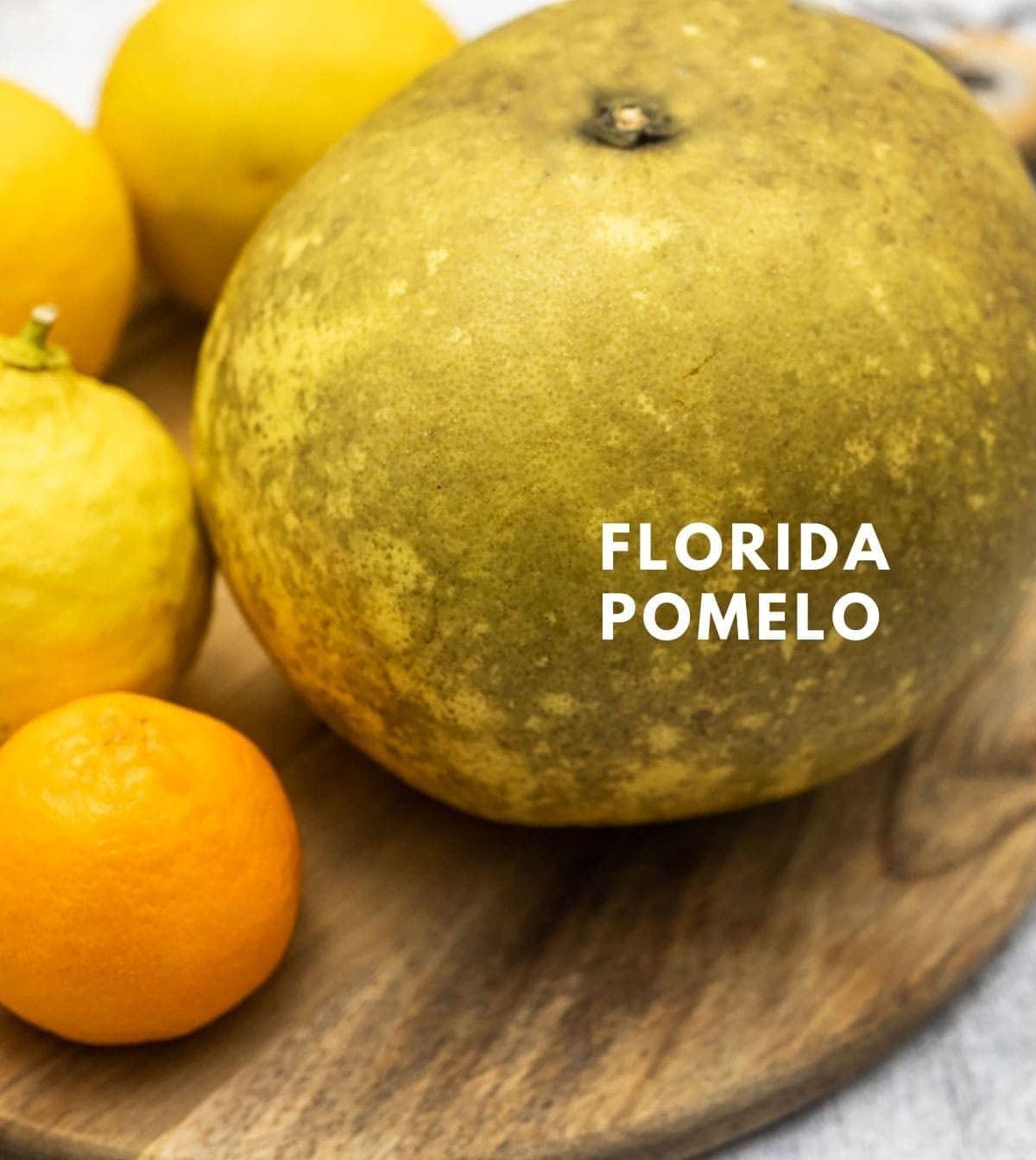 Florida pomelo fruit with lemons
