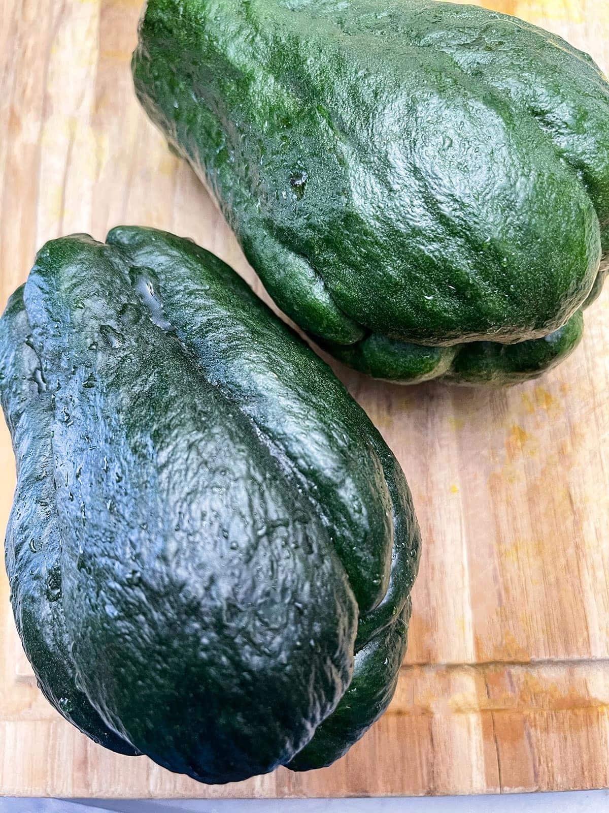 green chocho for chocho casserole