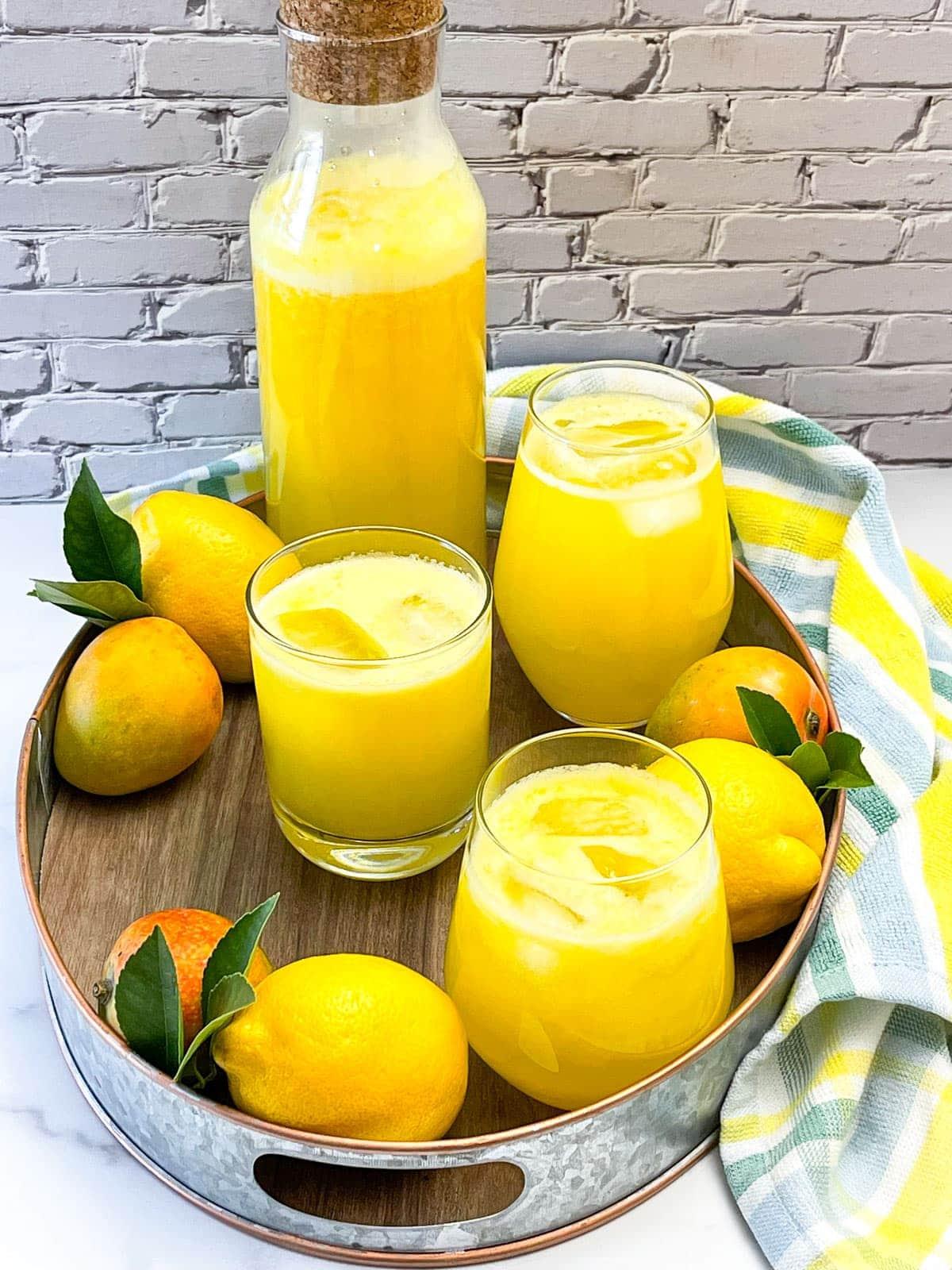 Mango lemonade overlay
