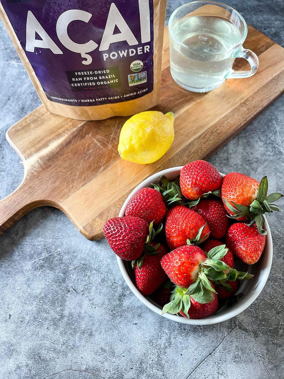 strawberry acai lemonade ingredients
