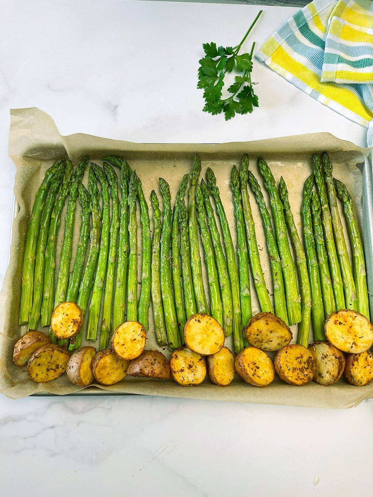 Roasted Asparagus and Potatoes