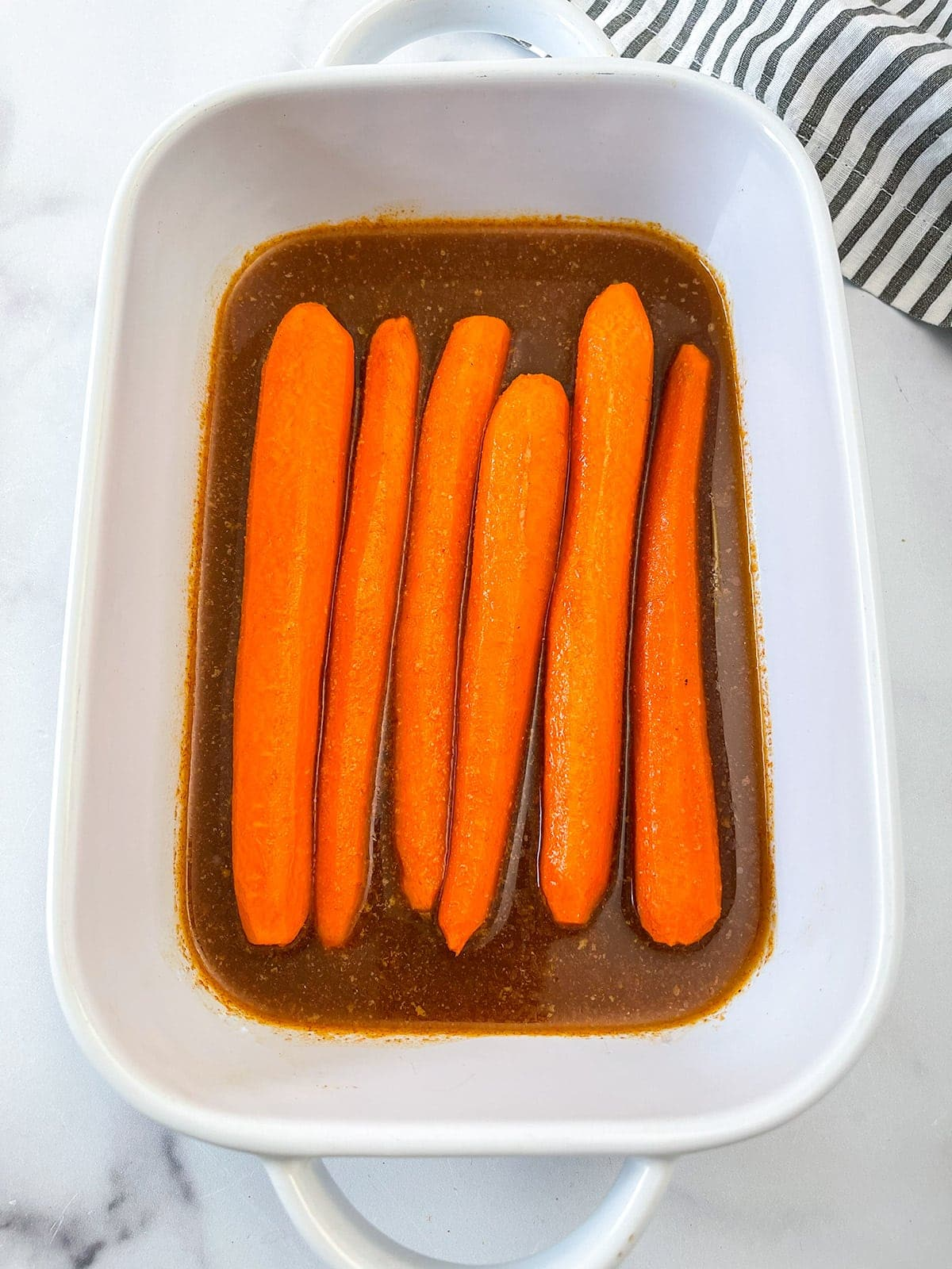 Carrot dog ingredients marinade