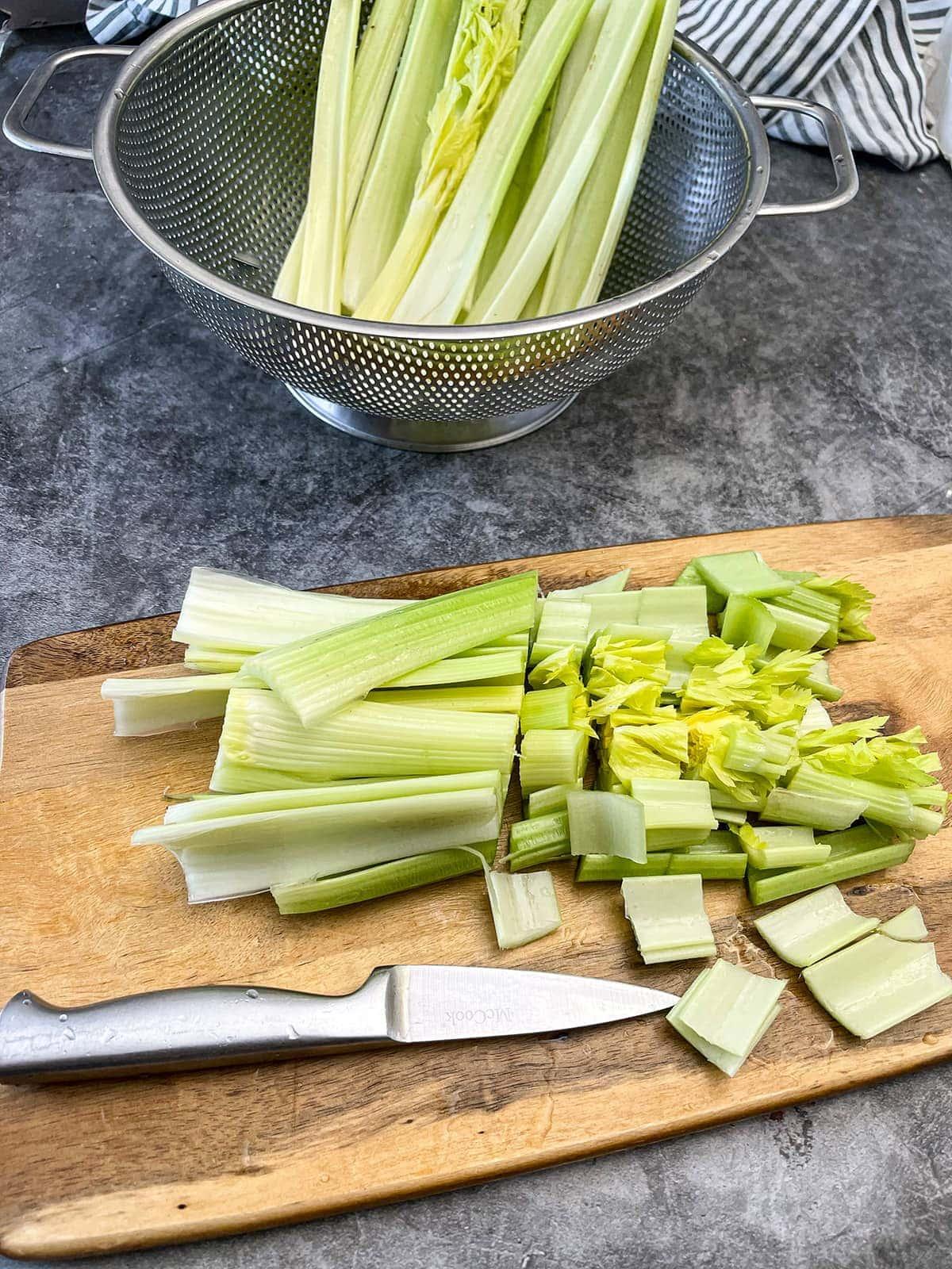 chopped celery chopped